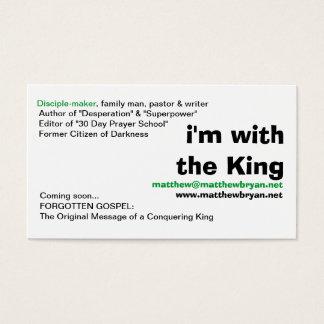 """""""je suis avec des cartes de visite du roi"""""""