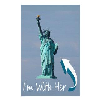 Je suis avec elle ! papier à lettre personnalisable
