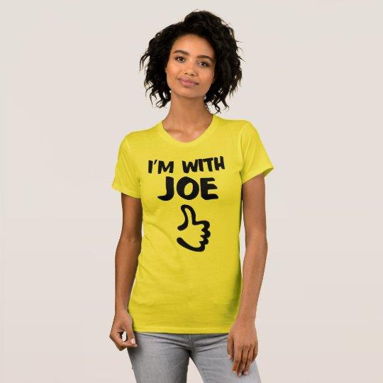 Je suis avec le T-shirt fin du Jersey des femmes