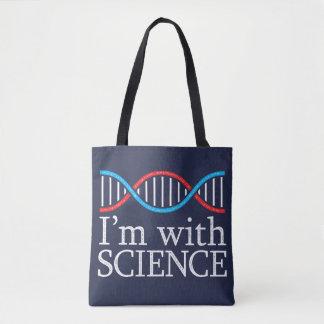 Je suis avec l'effet de timbre de la Science Sac