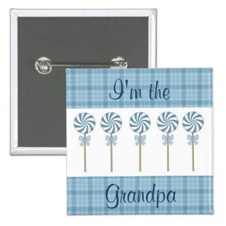 """""""Je suis bleu du grand-papa"""" Badges"""