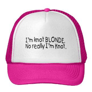 Je suis blonde de noeud vraiment que je suis noeud casquette trucker