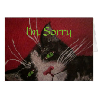 Je suis carte désolée de chat