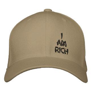 Je suis casquette riche de boule de base d affirma casquette de baseball