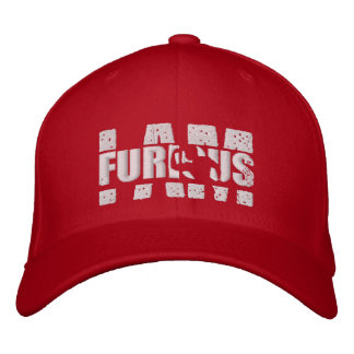 JE SUIS casquette rouge de logo de bout droit Casquette Brodée