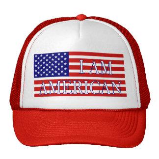 Je suis chapeau américain casquette