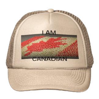 Je suis chapeau canadien de camionneur casquette