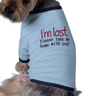 Je suis citation drôle perdue t-shirt ringer pour chien