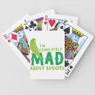 Je suis complètement fou au sujet des perruches jeux de cartes