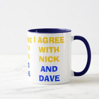 Je suis d'accord avec la coalition politique de ~ mug