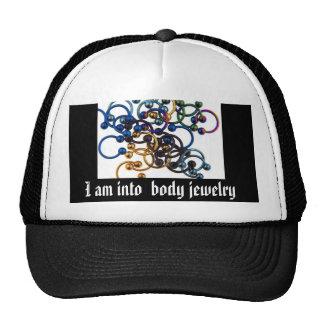 Je suis dans des bijoux de corps casquette