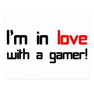 Je suis dans l'amour avec un Gamer Carte Postale