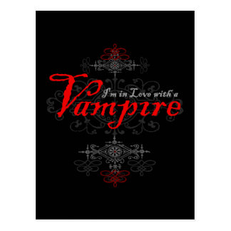 Je suis dans l'amour avec un vampire carte postale