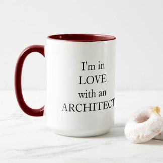 Je suis dans l'amour avec une tasse d'architecte