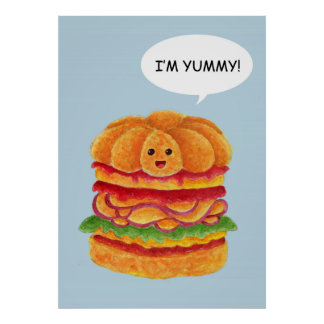 Je suis délicieux - Série d hamburger Posters