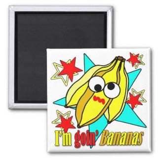 Je suis des bananes de Goin Magnet Carré