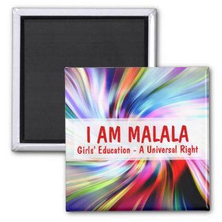 Je suis éducation de filles de Malala par droite Magnet Carré