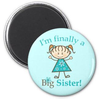 Je suis enfin un chiffre fille de bâton de grande  magnet rond 8 cm