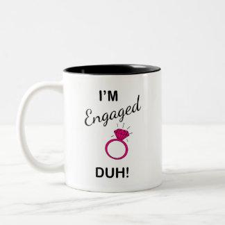 Je suis engagé… duh !  tasse