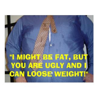 Je suis FAT, VOUS SUIS LAID - CARTE POSTALE