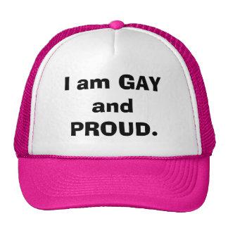 Je suis GAI et FIER Casquettes