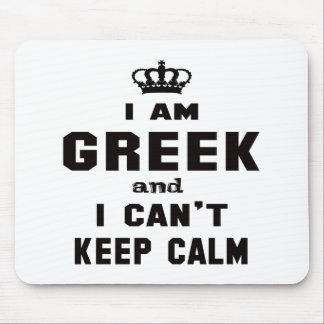 Je suis grec et je ne peux pas garder le calme tapis de souris