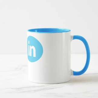 """Je suis #in"" - gazouillement et tasse de LinkedIn"