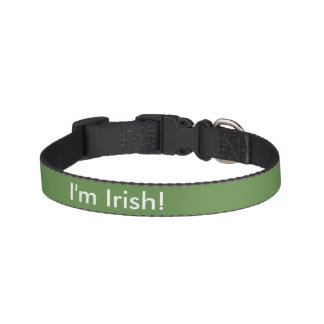 Je suis irlandais ! collier pour chien
