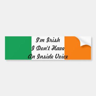 Je suis irlandais je n'ai pas un autocollant autocollant de voiture