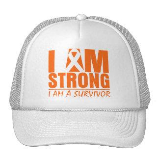 Je suis - je suis un survivant - leucémie forte casquettes de camionneur