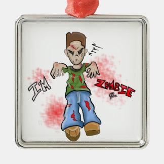 Je suis jouet de garçon de zombi par le GT Artland Ornement Carré Argenté