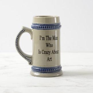 Je suis l homme qui est fou au sujet de l art mugs à café