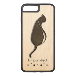 Je suis la caisse en bois de cerise mince plus de coque carved iPhone 8 plus/7 plus