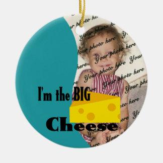 Je suis la grande photo de fromage ornement rond en céramique