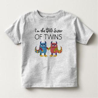 Je suis la grande soeur des jumeaux t-shirt pour les tous petits