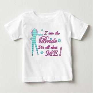 je suis la jeune mariée au sujet de moi brida de t-shirts