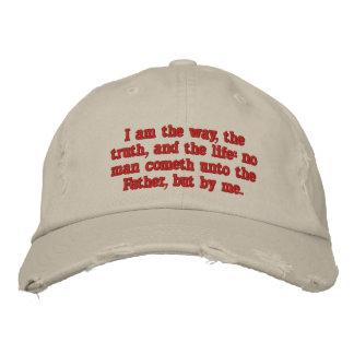 Je suis la manière, la vérité, et la vie :  14:6 casquette brodée