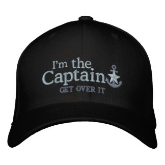 Je suis l'ancre de capitaine Humor Nautical Silver Casquette Brodée