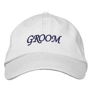 Je suis le casquette réglable de marié casquette brodée