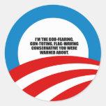 Je suis le conservateur très croyant autocollants