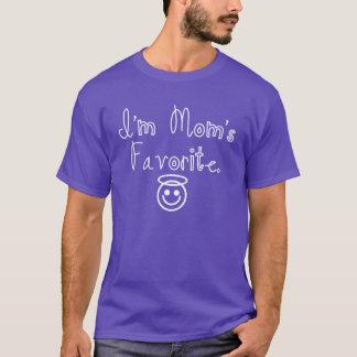Je suis le favori de la maman avec le smiley t-shirt