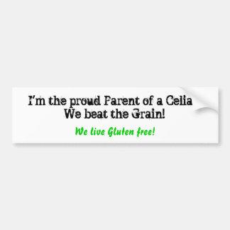 Je suis le parent fier d'un coeliaque ! Nous avons Autocollant De Voiture