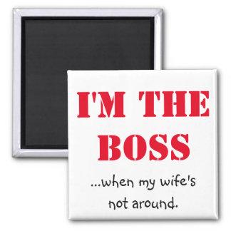 Je suis le patron magnet carré