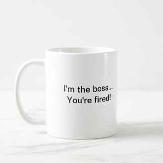 Je suis le patron… que vous êtes mis le feu ! mug