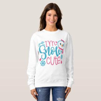 Je suis le sweatshirt de Noël de neige de mot des