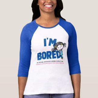 Je suis le T-shirt raglan des femmes ENNUYÉES, dos