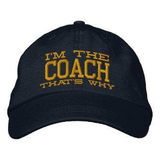 Je suis l'entraîneur qui est pourquoi casquette brodée