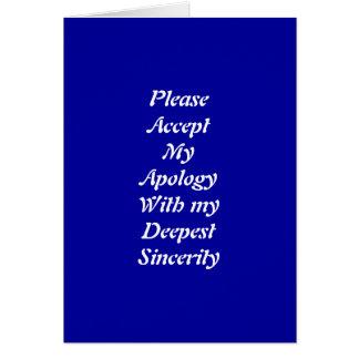 Je suis les cartes de voeux désolées
