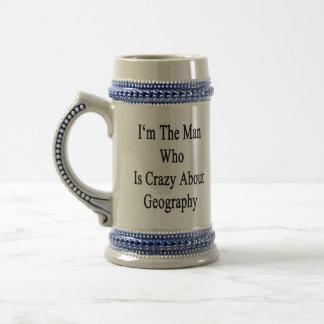 Je suis l'homme qui est fou au sujet de la géograp tasse à café