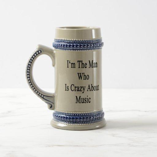 Je suis l'homme qui est fou au sujet de la musique tasses à café